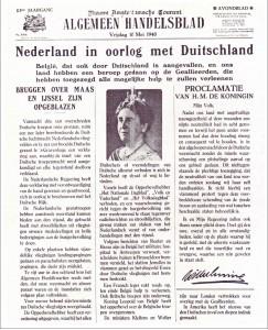 Nederland in oorlog met Duitsland - Bron: www.vktv.nl