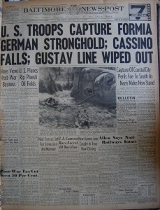 18 mei 1944 Gustavlinie doorbroken - Bron: www.historicnewspapersandcomics.co.uk