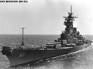 USS Missouri - bron: triangminicships.com