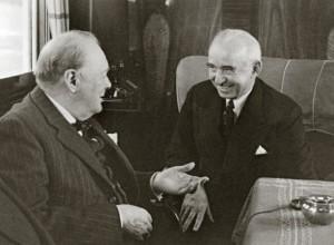 Churchill ontmoet Ismet Inönü - Bron: www.ismetinonu.org.tr