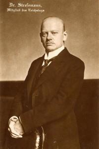 Interbellum - President Weimar Republiek Gustav Stresemann - Bron: www.dhm.de