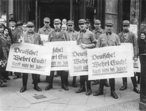 Interbellum - Boycot van Joodse winkels - Bron: www.histoforum.net