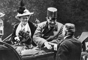 WOI - Franz Ferdinand en vrouw Sophie - Bron: www.eerstewereldoorlog.nu