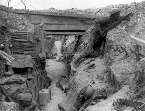WOI - Cheshire Regiment trench Somme 1916 - Bron: www.entoen.nu