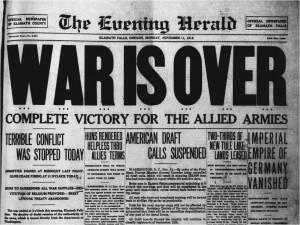 WOI - War Is Over 11-11-1918 - Bron: www.vimyridgehistory