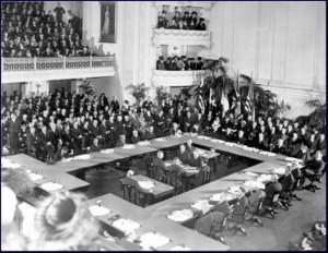 WOI - Ondertekening Verdrag van Versailles - Bron: www.npogeschiedenis.nl