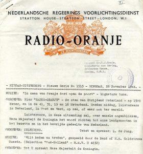 Radio Oranje - bron: spookstad.yolasite.com