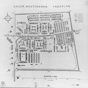 Plattegrond kamp Westerbork - bron: de.m.wikipedia.org